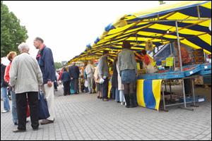 Markt in de gemeente
